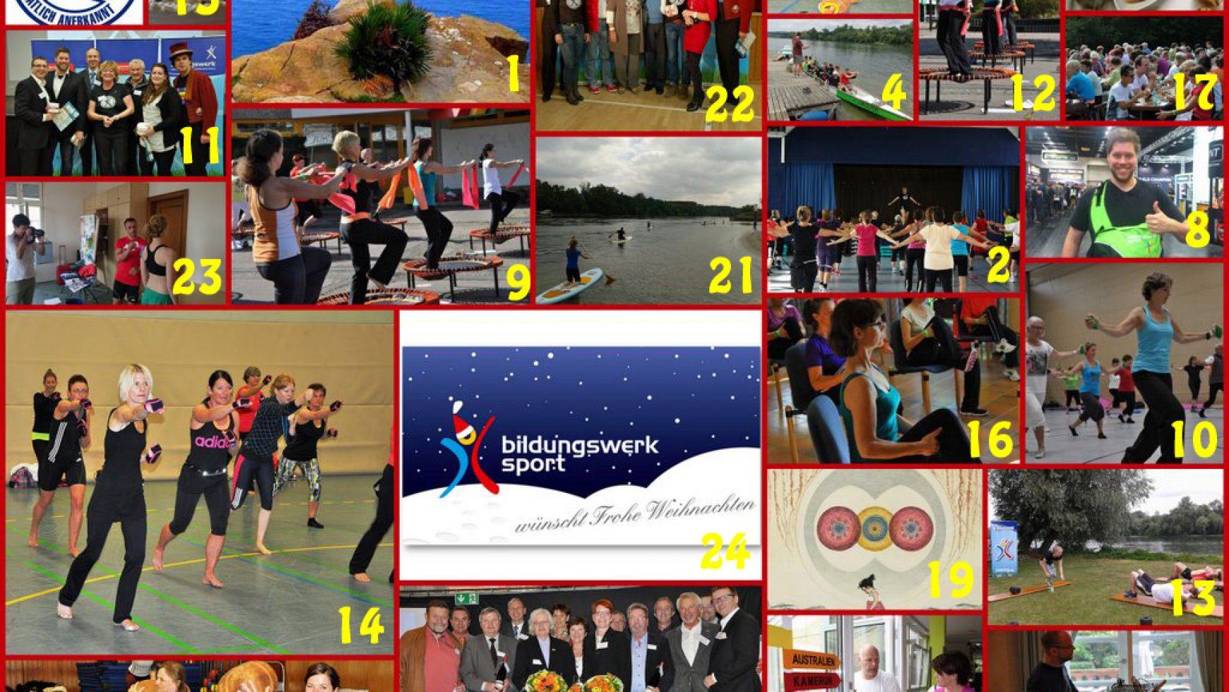 Adventskalenderzeit beim Bildungswerk des LSB Rheinland-Pfalz