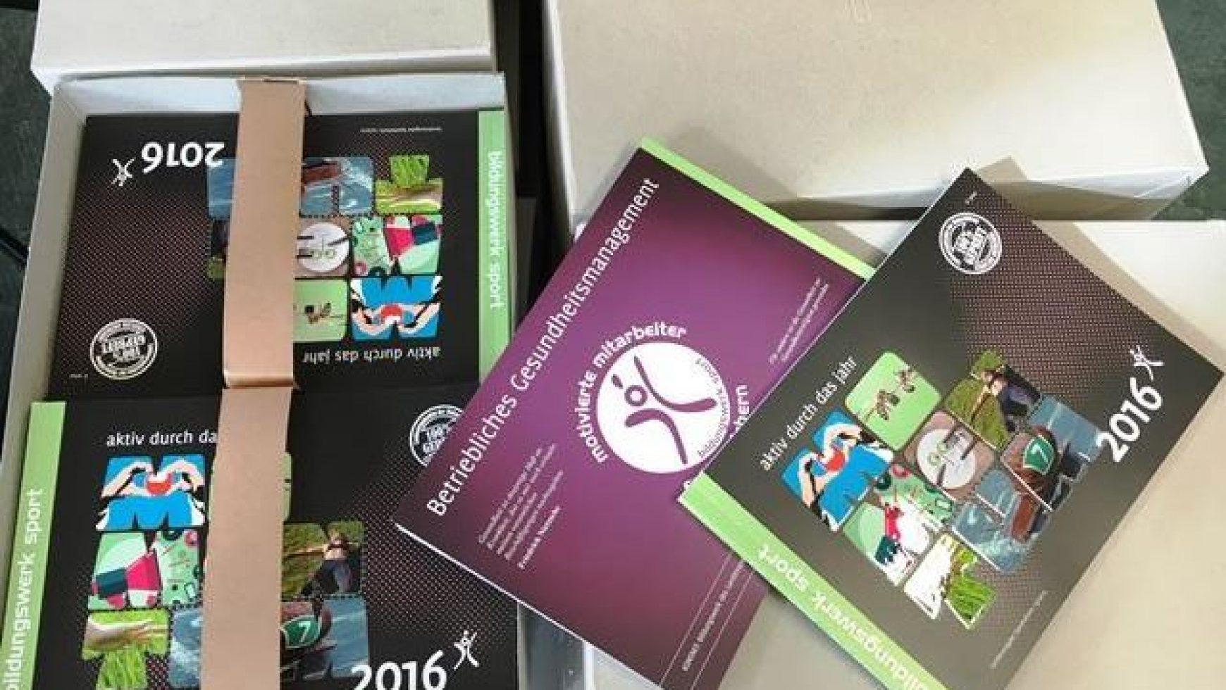 """Gerade druckfrisch eingetroffen: Unser Jahresprogramm """"Momentum 2016"""""""
