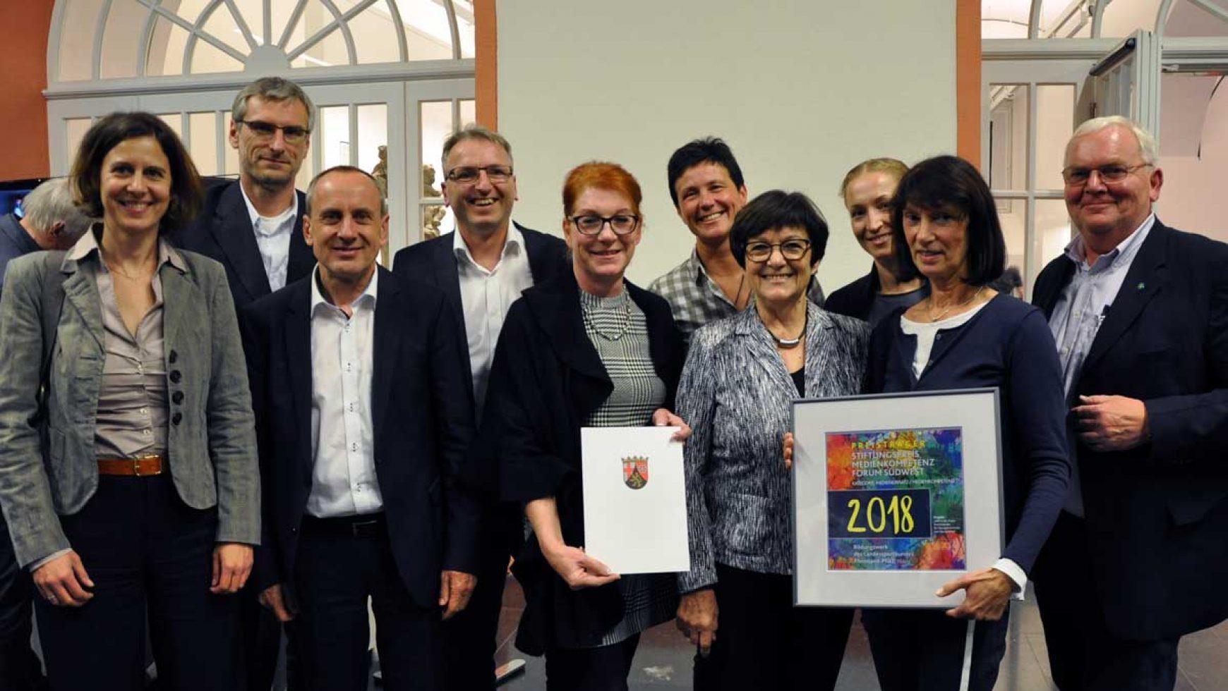 """Bildungswerk des LSB RLP gewinnt Stiftungspreis """"MedienKompetenz Forum Südwest"""""""
